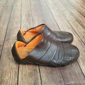 RARE Puma Satori Brown Leather Slip Ons Mens Size 11 EUR Size 44.5 342388