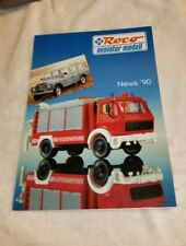 Roco miniatur modell Katalog Prospekt  News' 90, neuwertig