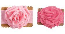 Mud Pie E0 Mermaid Baby Girl Flower Jersey Pink Soft Hair Headband 1512190