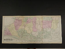 New York Long Island Map 1873 Hempstead, South Part, Double Page N3#85
