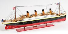 "RMS Titanic Cruise Ship Ocean Liner 56"" XLarge Built Wooden Model Boat Assembled"