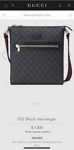 Gucci Black GG Supreme Messenger Bag
