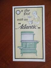 c.1920 Portland Stove Foundry Co. Catalog Brochure Atlantic Ranges Vintage VG