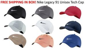 SHIPS FREE IN BOX 2021 Nike Golf Legacy 91 TOUR HAT Swoosh Cap Hat Unisex BV1076