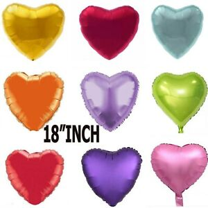 """18"""" Love Heart Shape Foil Balloons With Helium For Party Wedding Birthday ANNIVE"""