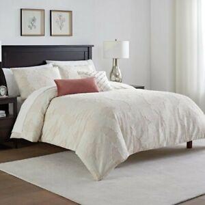 Waterford Abella Clip Jacquard Arbor 3P King comforter Set Ivory Blush
