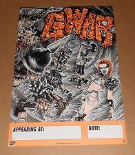 GWAR Tour 1992 Poster Original Promo 13x19 RARE