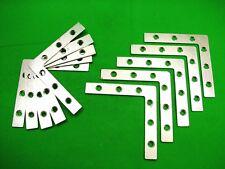 Corner plate flat corner brace fixing L bracket,102x102mm,pack of 10 zinc plated