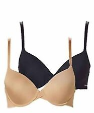 3152ad02240b Calvin Klein Womens 2 Pack Perfectly Fit Modern T-Shirt Bra / BLACK / BARE