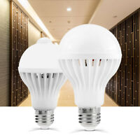 E27 PIR Motion Sound Sensor Bulb 3W 5W 7W 9W 12W Auto Smart LED Lamp 110V 220V