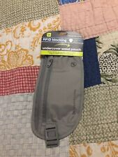 NEW Travelon RFID Blocking Undercover / Undergarment Waist Pouch - Gray - Unisex