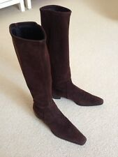 Fratelli Rossetti Dark Brown Suede Boots Size 38, UK5