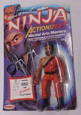 Remco Secret Of The Ninja KUNG FU MASTER On Open Card - Vintage Action Figure