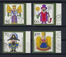 070) West Germany 1990 used -  Christmas  Set of 4 beautiful Stamps