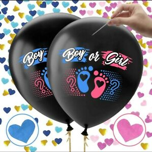 Baby Gender Reveal Balloon, Jumbo 36 Inch, black and pink and blue