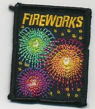 Girl Boy Cub FIREWORKS 4th of July Fun Patches Crests Badges SCOUT GUIDE Sew on