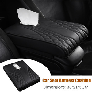 Car Leather Seat Armrest Cushion Central Control Pad Tissue Box Support Hand Pad