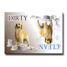 Golden Retriev 00004000 Er Clean Dirty Dishwasher Magnet New Dog