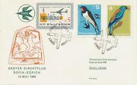 "BULGARIEN 1966 Erstflug TABSO Erster Direktflug m. Iljuschin 18 ""SOFIA - ZÜRICH"""