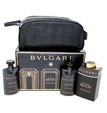 BVLGARI MAN IN BLACK 4 PIECE GIFT SET EAU DE PARFUM SPRAY 100ML NIB-BVL10038937