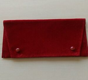 CARTIER CLASSIC STORAGE/POUCH FOR GLASSES/SUNGLASSES, RED SIGNATURE COLOR