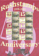 Bc-017 Gb 2003 Rushstamps 45th Anniversary Smiler sheet Unmounted Mint/Mnh