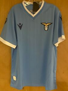ITALY SS LAZIO Blue Soccer JERSEY  All sizes available  Made by Macron