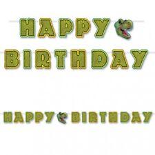 """Happy Birthday Dinosaur 6"""" X 10' Streamer Dinosaur Birthday Party Decoration"""