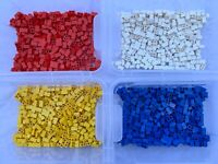 LEGO 3004 - Choice Of 50 Used 1x2 Bricks In 4 Different Colours / 50 Pieces