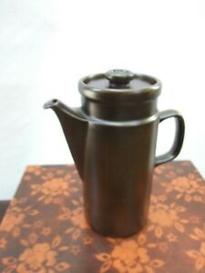 Wedgwood Sterling Brown Coffee Pot Oven to Table Made in England  Vintage 1960s