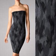 Wolford Camouflage Dress - Kleid • XS • dark grey/ black/ silver • rundumnahtlos