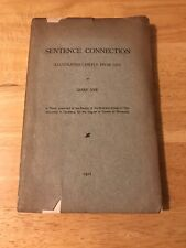 1912 SENTENCE CONNECTION Illustrated Chiefly From Livy IRENE NYE Yale Thesis
