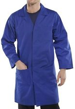 Dickies workwear - warehouse store lab laboratory coat / cow gown - royal blue