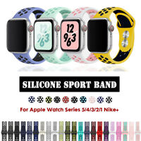 40/44mm 38/42mm Silicone Sports iWatch Band Strap for Apple Watch Series 5 4 3 2