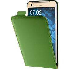 Artificial Leather Case for HTC One X9 - Flip-Case green Case