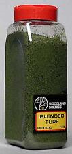 Woodland Scenics T1349 Turf Fine Green Blend 32 oz Shaker - NIB