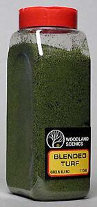 Woodland Scenics 1349 Blended Turf * Green Blend 32 oz Shaker - NIB