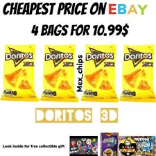 Doritos 3D queso Mexican chips Sabritas 4 BAGS, 50g, EXP.DATE OCT 2020