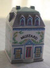 Lenox Spice Village Fine Porcelain Mustard House 1989 Handcrafted - Replacement