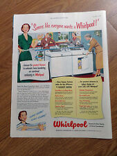 1951 Whirlpool Washer & Dryer Ad Seems Like Everyone Wants one