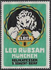 German Cinderella: 1920 ELREM Leo Rübsam Munich Deli Specialty: Mustard- cw47.26