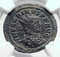CARINUS Authentic Ancient Genuine 283AD Rome Roman Coin AEQUITAS NGC i80646