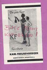 GÖPPINGEN, Werbung 1928, Karl Freudenberger Korsett-Fabrik KF