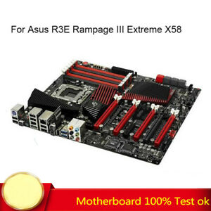 For Asus R3E Rampage III Extreme X58 Motherboard X5650 LGA1366 DDR3 Intel ATX