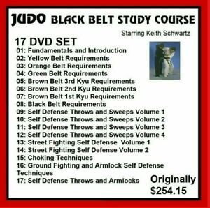 JUDO BLACK BELT HOME STUDY 17 DVDs Keith Schwartz like mma panther productions