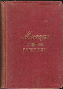 MURRAY'S TRAVEL HANDBOOK - BERKSHIRE - 1902, 1st edition - map & 2 plans
