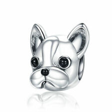 Christmas Cute Dog .925 Sterling Silver Charm Bead fit Bracelet Handmade Jewelry