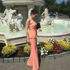 Jarlo Freya Pink Wedding Bandeau Strapless Peplum Maxi Evening Party Dress 12 40