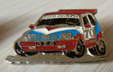 RARE BEAU PIN'S VOITURE RALLYE RENAULT SUPER 5 GT TURBO AUTO CROSS  FOND ARGT