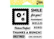 HAMPTON ART JILLIBEAN SOUP Clear Stamps PICTURE PERFECT  13 PC  Phrases
